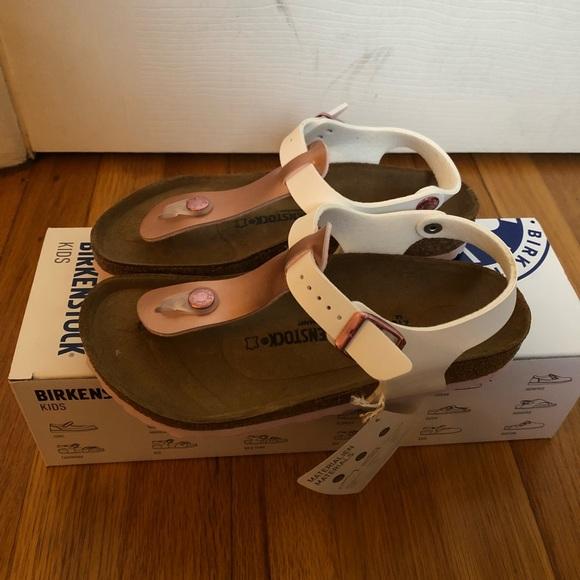 Birkenstock kairo kids sandals rose gold white 5a2a5b2760